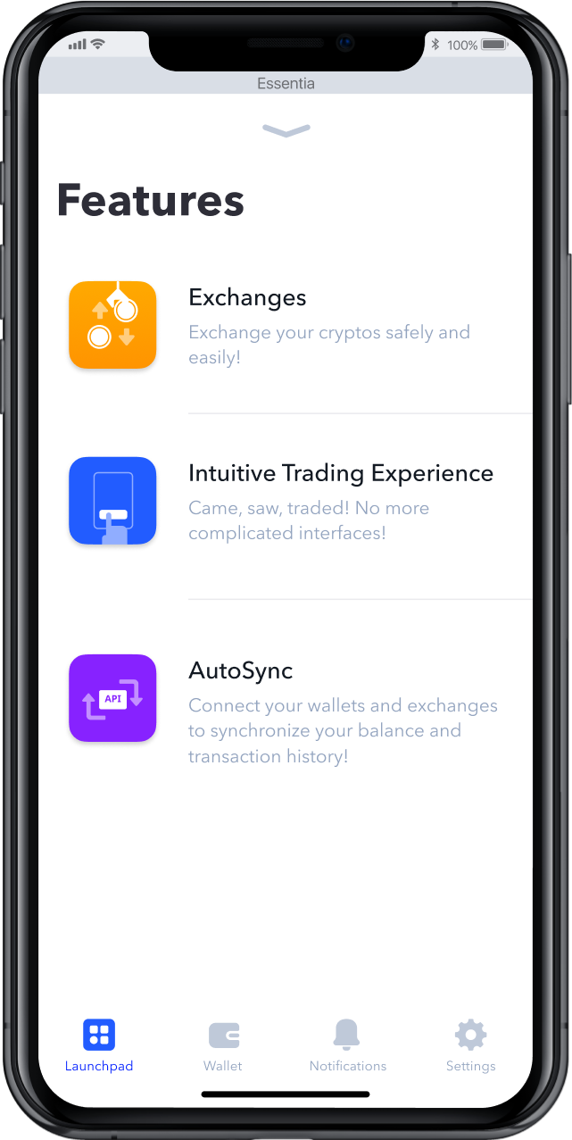 Essentia application
